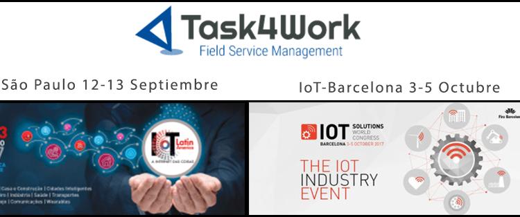 Encuentra a Task4Work en las citas más importantes de IoT